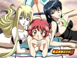 Rating: Questionable Score: 15 Tags: aoi_anna breast_grab cleavage erect_nipples fujimura_shizuru godannar kimura_takahiro mira_ackerman swimsuits User: admin2