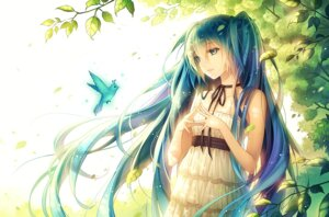 Rating: Safe Score: 67 Tags: dress hatsune_miku summer_dress tid vocaloid User: blooregardo