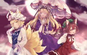 Rating: Questionable Score: 11 Tags: animal_ears chen kitsune tail touhou umbrella yakumo_ran yakumo_yukari youtan User: Dreista