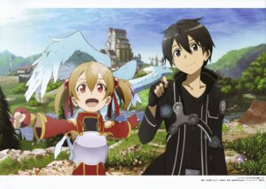 Rating: Safe Score: 22 Tags: adachi_shingo armor kirito pina silica sword_art_online User: drop