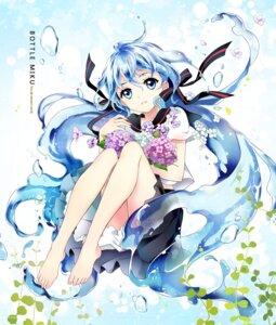 Rating: Safe Score: 50 Tags: bottle_miku feet hatsune_miku m-ca seifuku vocaloid User: fairyren