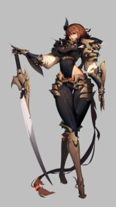 Rating: Safe Score: 35 Tags: [saw] armor erect_nipples heels leotard sword User: blooregardo