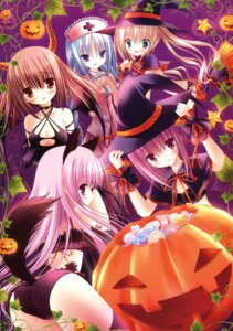 Rating: Questionable Score: 40 Tags: hakamada_hinata halloween kashii_airi minato_tomoka misawa_maho nagatsuka_saki ro-kyu-bu! tinkle User: Twinsenzw