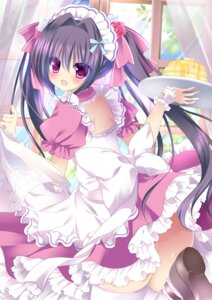 Rating: Questionable Score: 44 Tags: ass dress maid moe2015 niki_(aroma_terrace) nopan thighhighs User: KazukiNanako