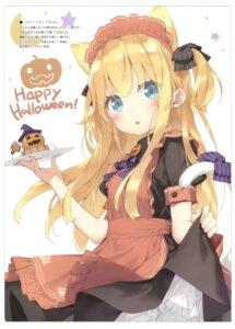 Rating: Questionable Score: 33 Tags: animal_ears halloween luminocity maid nekomimi peco shimotsuki_potofu skirt_lift tail User: Radioactive