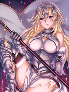 Rating: Safe Score: 30 Tags: armor cleavage fate/apocrypha fate/grand_order fate/stay_night jeanne_d'arc jeanne_d'arc_(fate) lalatia-meai thighhighs torn_clothes User: mash