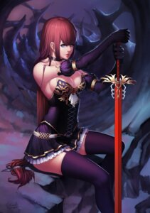 Rating: Safe Score: 41 Tags: cleavage no_bra stockings sword thank_star thighhighs User: Mr_GT