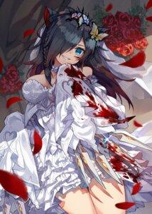 Rating: Safe Score: 30 Tags: animal_ears blood cleavage dress kuuron nekomimi puzzle_&_dragons weapon wedding_dress User: Humanpinka
