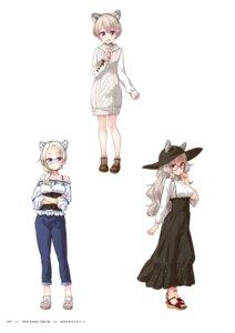 Rating: Questionable Score: 9 Tags: dress hazuki_shizuku hoshikawa_hotaru megane new_game! sweater tokunou_shoutarou yamato_christina_wako User: kiyoe