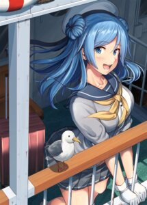 Rating: Safe Score: 39 Tags: ichikawa_feesu kantai_collection seifuku sweater urakaze_(kancolle) User: Nepcoheart