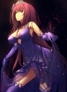 Rating: Questionable Score: 134 Tags: cleavage dress erect_nipples fate/grand_order kawanakajima no_bra scathach_(fate/grand_order) see_through skirt_lift thighhighs User: mash