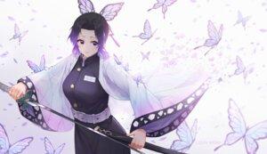 Rating: Safe Score: 26 Tags: japanese_clothes kimetsu_no_yaiba kochou_shinobu oo92248226 sword uniform User: Dreista