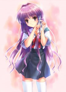 Rating: Safe Score: 49 Tags: clannad fujibayashi_kyou goto-p seifuku thighhighs User: Radioactive