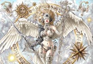 Rating: Safe Score: 31 Tags: angel sword takumi_(marlboro) wings User: Radioactive