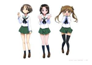 Rating: Safe Score: 15 Tags: girls_und_panzer maruyama_saki megane oono_aya sawa_azusa seifuku thighhighs User: drop