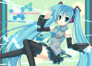 Rating: Safe Score: 34 Tags: hatsune_miku indico_lite mitha thighhighs vocaloid User: androgyne