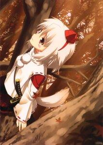 Rating: Safe Score: 7 Tags: inubashiri_momiji kamikire_basami tail touhou yasuyuki User: androgyne