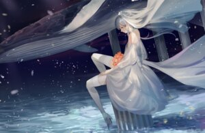Rating: Safe Score: 46 Tags: dress heels leiq luo_tianyi stockings thighhighs vocaloid wedding_dress User: Spidey
