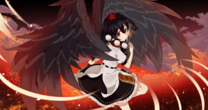 Rating: Safe Score: 15 Tags: chieezuik pointy_ears shameimaru_aya skirt_lift touhou wings User: Mr_GT