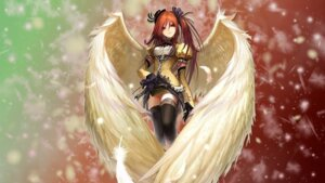 Rating: Safe Score: 96 Tags: angel aquarian_age jpeg_artifacts tachikawa_mushimaro thighhighs wallpaper wings User: nosaj