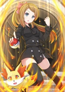 Rating: Questionable Score: 31 Tags: dress fennekin kazenokaze pokemon serena_(pokemon_xy) thighhighs User: sylver650