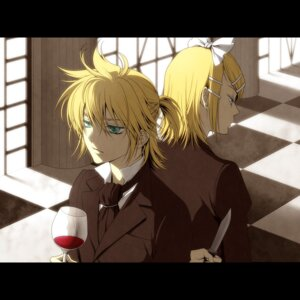 Rating: Safe Score: 5 Tags: kagamine_len kagamine_rin kayu vocaloid User: Radioactive