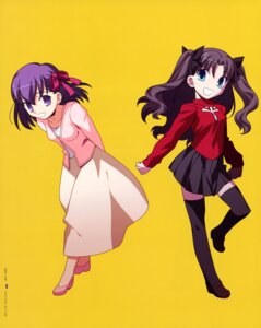 Rating: Safe Score: 11 Tags: chibi fate/stay_night matou_sakura takeuchi_takashi thighhighs toosaka_rin type-moon User: Aurelia