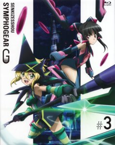 Rating: Safe Score: 20 Tags: akatsuki_kirika disc_cover dress headphones senki_zesshou_symphogear thighhighs tsukuyomi_shirabe weapon witch User: sjl19981006