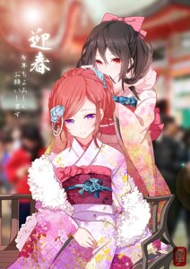 Rating: Safe Score: 98 Tags: kimono love_live! nishikino_maki yazawa_nico yukinokoe User: fireattack