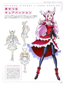 Rating: Safe Score: 10 Tags: character_design dress fresh_pretty_cure! heels higashi_setsuna pantyhose pretty_cure sketch User: drop