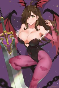 Rating: Safe Score: 68 Tags: cosplay dark_stalkers kono_subarashii_sekai_ni_shukufuku_wo! leotard morrigan_aensland no_bra pantyhose sendrawz sword wings wiz_(kono_subarashii_sekai_ni_shukufuku_wo!) User: Mr_GT
