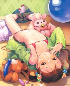 Rating: Explicit Score: 92 Tags: bikini cum dildo loli nekomata_naomi open_shirt swimsuits User: limalama