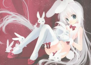 Rating: Questionable Score: 34 Tags: animal_ears bunny_ears fixed heels loli naked rami tail thighhighs User: Tsumikiria