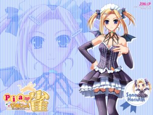 Rating: Safe Score: 24 Tags: cleavage cocktail_soft devil horiuchi_sana lolita_fashion murakami_suigun pia_carrot piajong stockings thighhighs waitress wallpaper wings User: alimilena