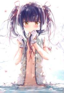 Rating: Questionable Score: 112 Tags: kodama_haruka no_bra open_shirt pantsu see_through twinbox twinbox_(circle) twinbox_school wet wet_clothes User: kiyoe