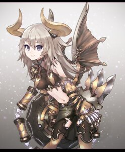 Rating: Safe Score: 40 Tags: armor bike_shorts horns kusakanmuri thighhighs wings User: Mr_GT