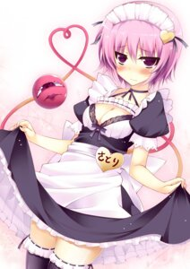 Rating: Questionable Score: 29 Tags: cleavage komeiji_satori maid thighhighs torisukerabasu touhou User: 椎名深夏