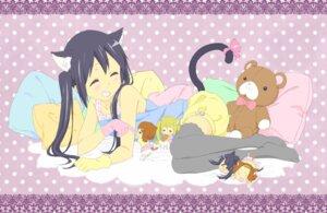 Rating: Safe Score: 20 Tags: akiyama_mio animal_ears chibi hirasawa_yui k-on! kotobuki_tsumugi nakano_azusa nekomimi shan tail tainaka_ritsu thighhighs User: animeprincess