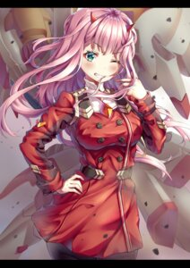 Rating: Safe Score: 36 Tags: darling_in_the_franxx horns mecha pantyhose uniform xi_zhujia_de_rbq zero_two_(darling_in_the_franxx) User: sym455