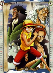 Rating: Safe Score: 11 Tags: calendar jinbei male monkey_d._dragon monkey_d_luffy one_piece shanks silvers_rayleigh User: fireattack