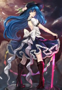 Rating: Safe Score: 22 Tags: heels hinanawi_tenshi kyogoku-uru no_bra sword touhou User: Mr_GT