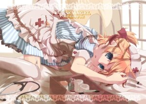 Rating: Safe Score: 37 Tags: hekicha kagamine_len nurse stockings thighhighs trap vocaloid User: blooregardo