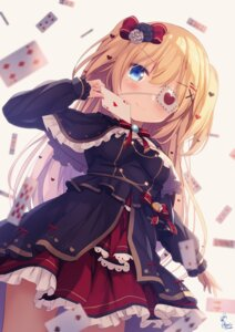 Rating: Safe Score: 21 Tags: akai_haato chinomaron dress eyepatch gothic_lolita hololive lolita_fashion User: Mr_GT