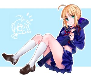 Rating: Safe Score: 32 Tags: fate/stay_night ha84no pantsu saber seifuku User: Mr_GT