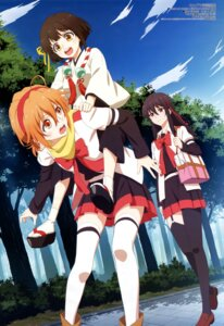 Rating: Questionable Score: 36 Tags: amasaki_manamu ichinomiya_eruna japanese_clothes mikagura_gakuen_kumikyoku mikagura_seisa seifuku stockings thighhighs yasaka_himi User: drop