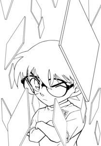 Rating: Safe Score: 3 Tags: aoyama_goushou detective_conan edogawa_conan line_art male megane monochrome User: charunetra