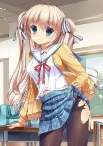 Rating: Questionable Score: 62 Tags: onaka_sukisuki pantsu pantyhose seifuku torn_clothes User: blooregardo