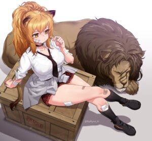 Rating: Safe Score: 25 Tags: animal_ears arknights bandages bandaid narynn seifuku siege_(arknights) tail User: Mr_GT
