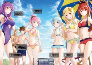 Rating: Questionable Score: 63 Tags: bikini breast_hold cleavage digital_version fuzichoko hachinan_tte_sore_wa_nai_deshou! swimsuits User: AltY