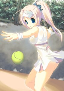 Rating: Questionable Score: 85 Tags: erect_nipples mutsuno_hekisa no_bra nopan tennis wet_clothes User: 椎名深夏